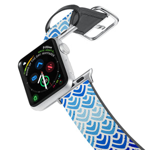 Printed Leather Apple Watch Band with Art 2 design. Designed for Apple Watch Series 4,Works with all previous versions of Apple Watch.