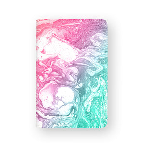 front view of personalized RFID blocking passport travel wallet with Abstract Oil Painting design