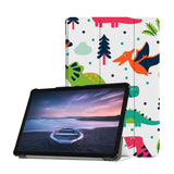 Personalized Samsung Galaxy Tab Case with Dinosaur design provides screen protection during transit