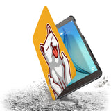 the drop protection feature of Personalized Samsung Galaxy Tab Case with Cat Fun design