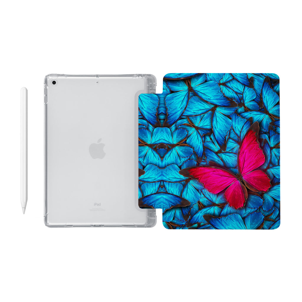 iPad SeeThru Casd with Butterfly Design Fully compatible with the Apple Pencil