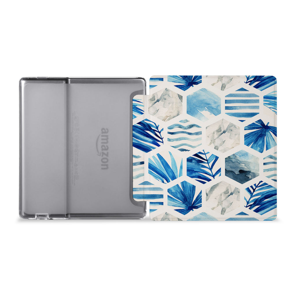 The whole view of Personalized Kindle Oasis Case with Geometric Flower design