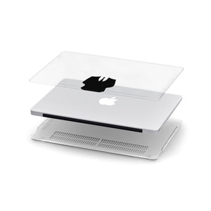 Ultra-thin and lightweight two-piece hardshell case with Apple Logo Fun 2 design is easy to apply and remove swap