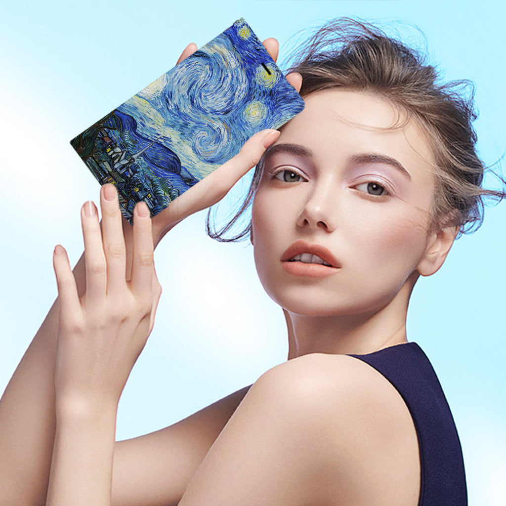 Personalized iPhone Wallet Case with Oil Painting desig marries a wallet with an Samsung case, combining two of your must-have items into one brilliant design Wallet Case.