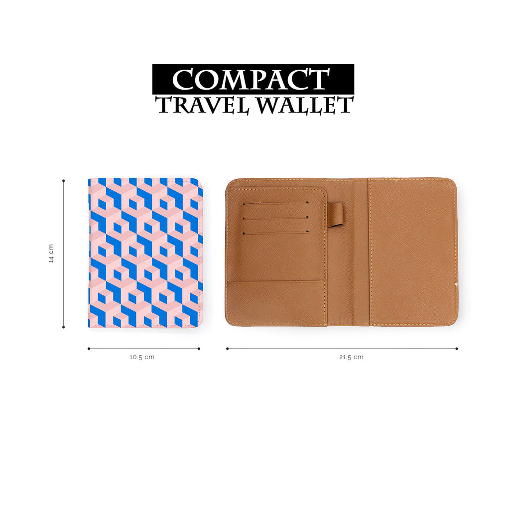 compact size of personalized RFID blocking passport travel wallet with 3D Patterns design