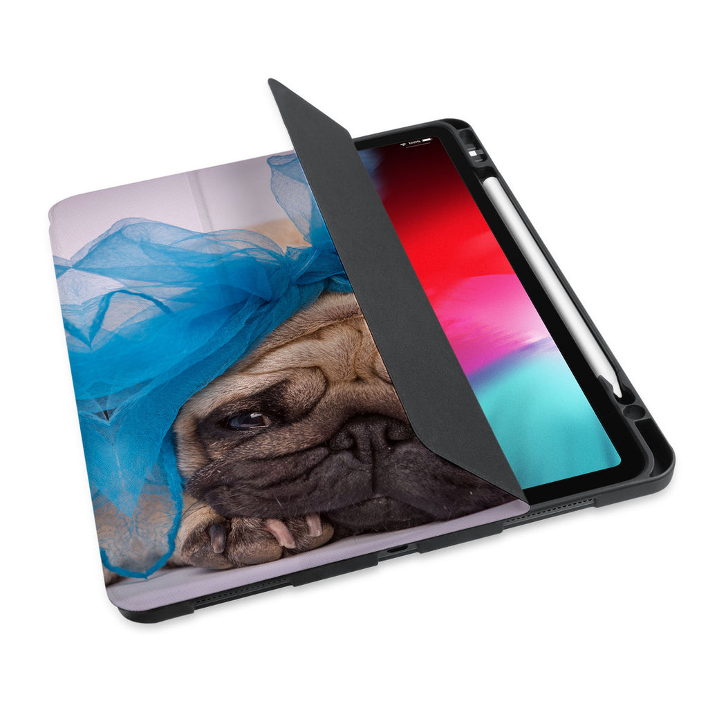 personalized iPad case with pencil holder and Dog design - swap