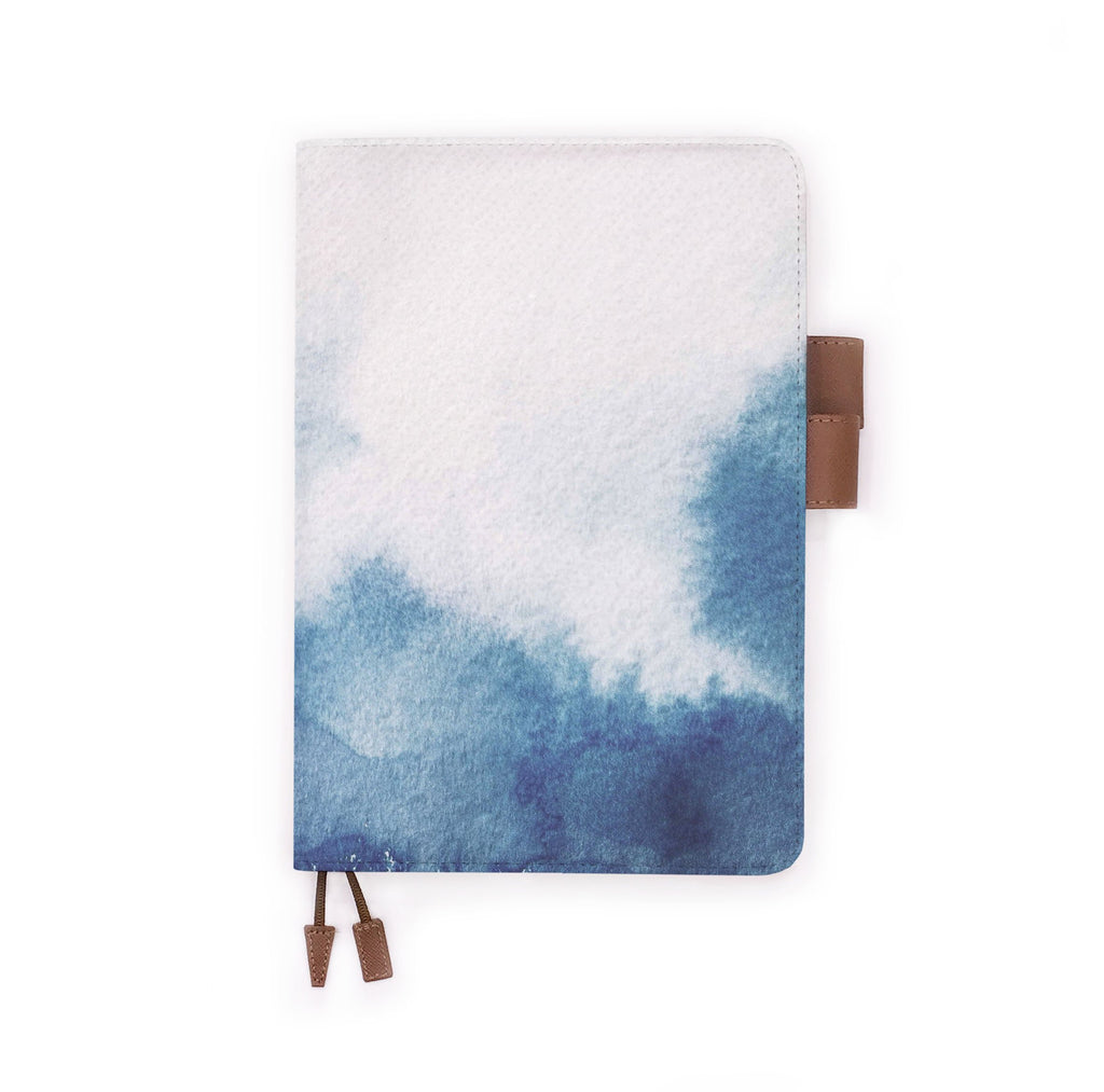 the front view of papermarker's diary with Abstract Ink Painting pattern