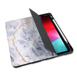 personalized iPad case with pencil holder and Marble design - swap