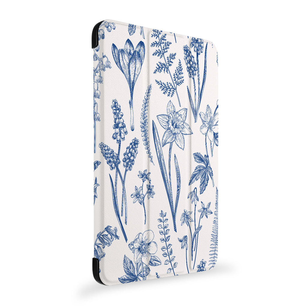 the side view of Personalized Samsung Galaxy Tab Case with Flower design