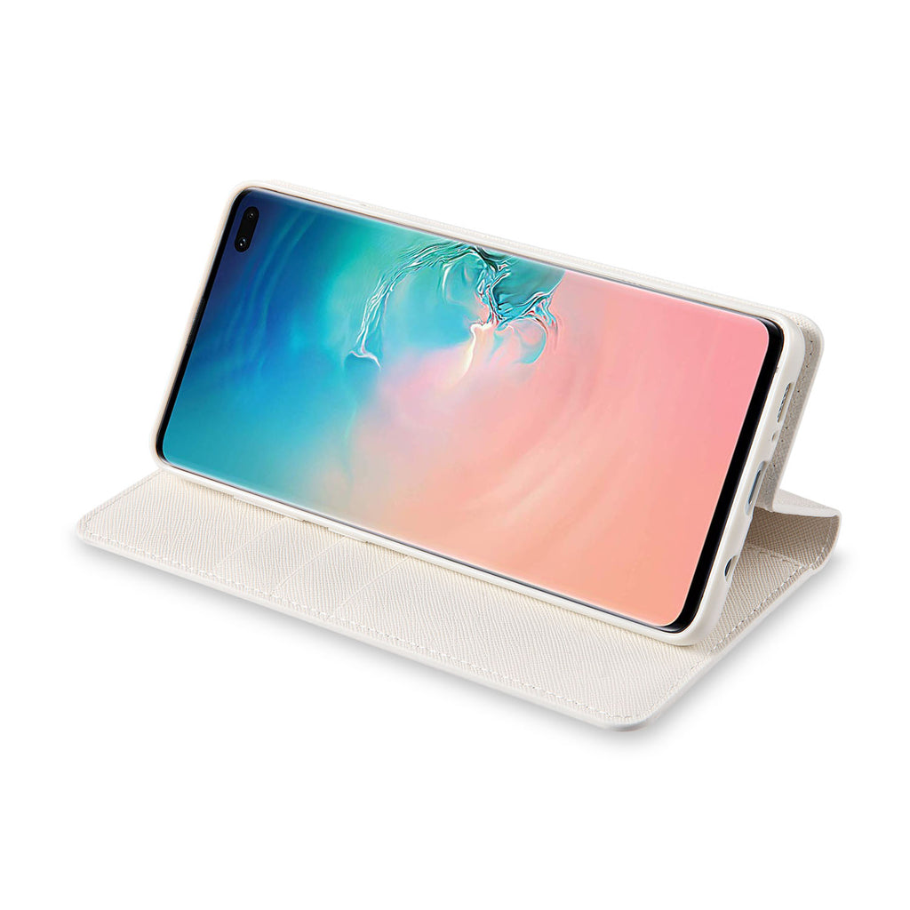Our wallet case folds into a display stand for hands-free usage anywhere