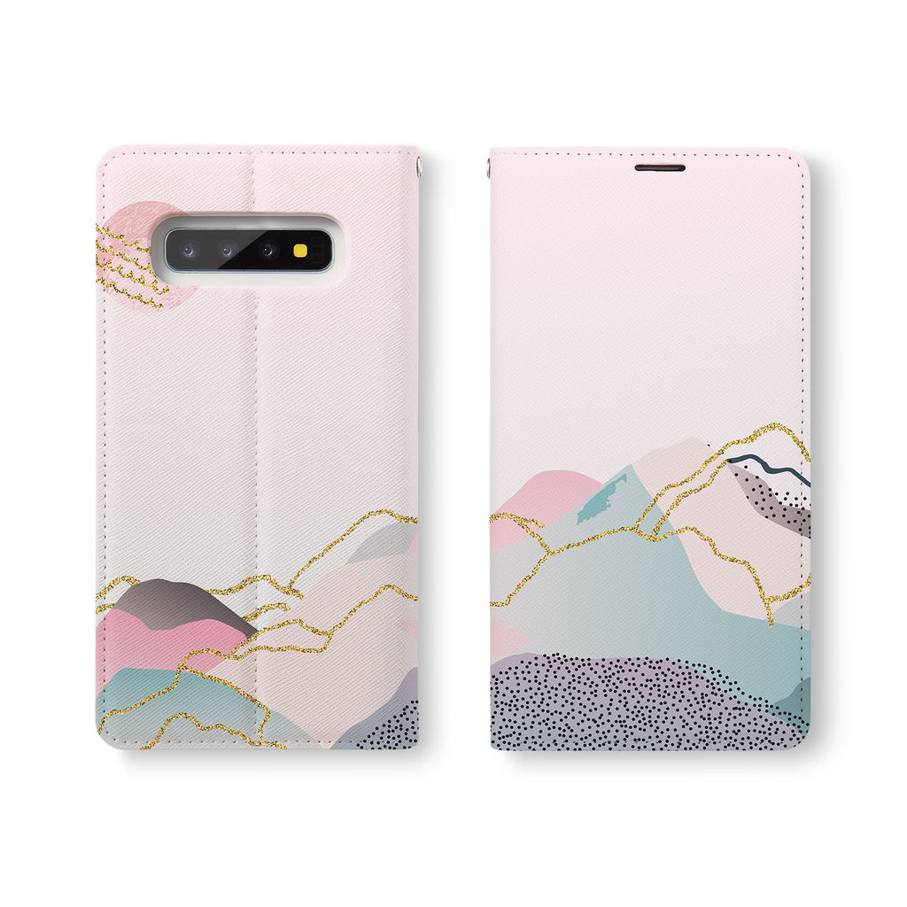 Personalized Samsung Galaxy Wallet Case with Marble Art desig marries a wallet with an Samsung case, combining two of your must-have items into one brilliant design Wallet Case.