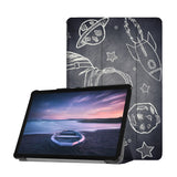 Personalized Samsung Galaxy Tab Case with Astronaut Space design provides screen protection during transit
