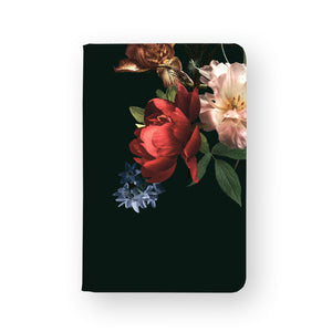 front view of personalized RFID blocking passport travel wallet with Flowers design