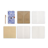 midori style traveler's notebook with Aztec Tribal design, refills and accessories