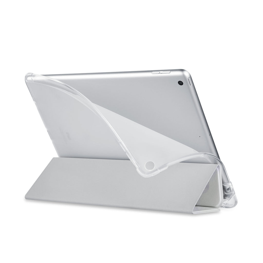 Balance iPad SeeThru Casd with Travel Design has a soft edge-to-edge liner that guards your iPad against scratches.