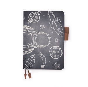the front view of papermarker's diary with Astronaut Space pattern
