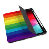 personalized iPad case with pencil holder and Rainbow design - swap