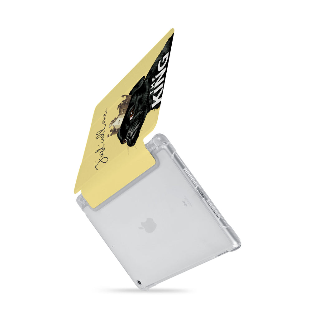 iPad SeeThru Casd with Dog Fun Design  Drop-tested by 3rd party labs to ensure 4-feet drop protection