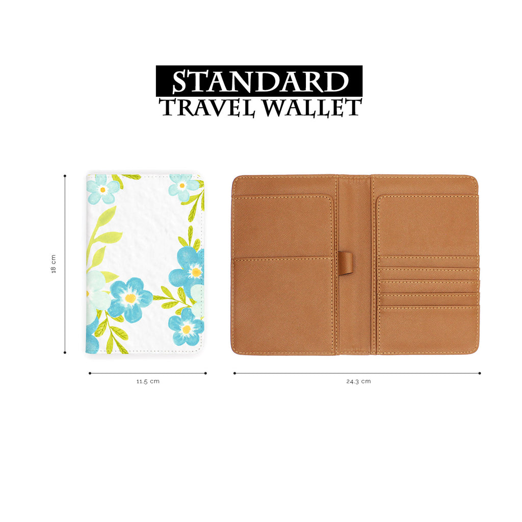 standard size of personalized RFID blocking passport travel wallet with Charm Floral design