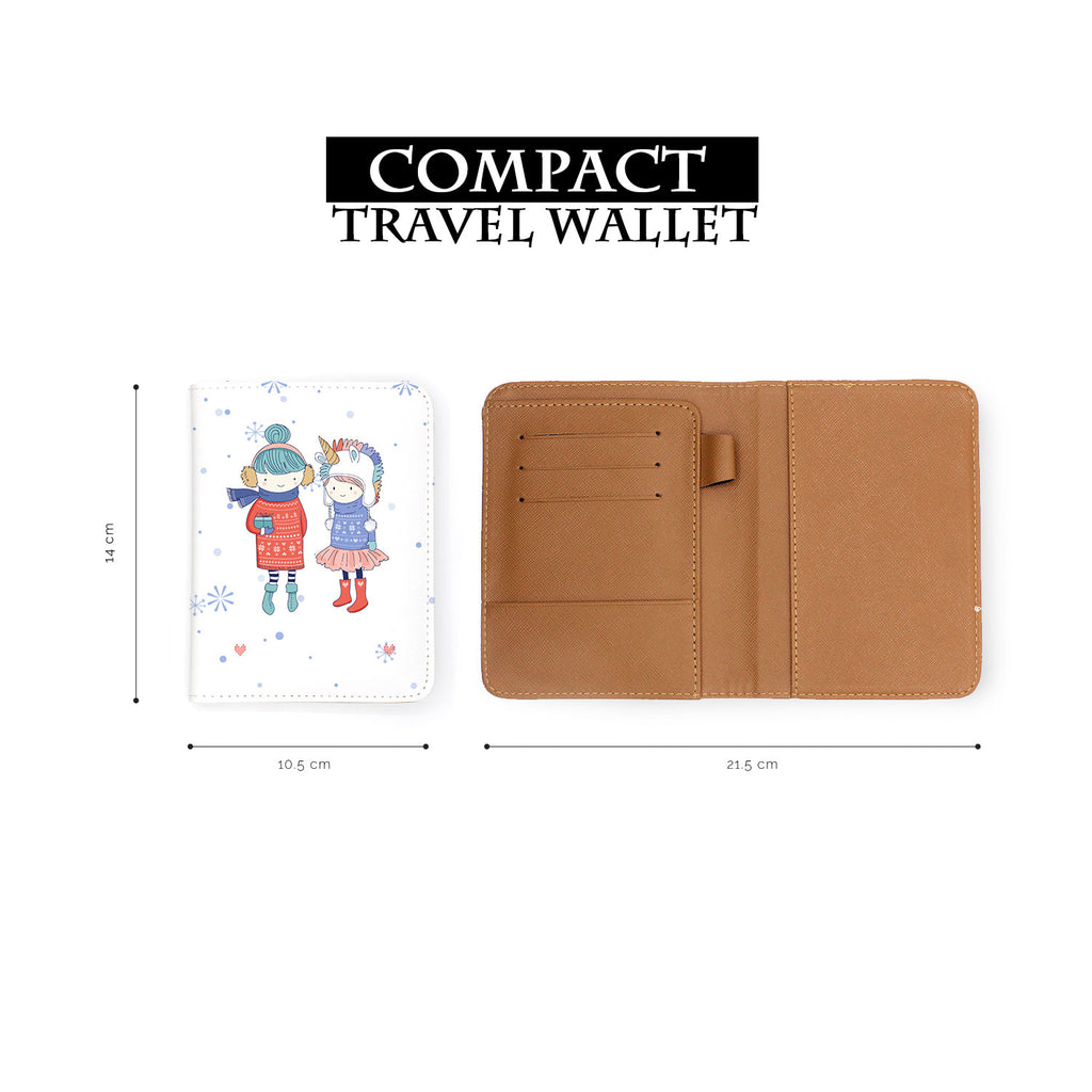 compact size of personalized RFID blocking passport travel wallet with My Best Friends design