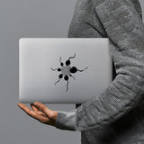 hardshell case with AppleLogoFun design combines a sleek hardshell design with vibrant colors for stylish protection against scratches, dents, and bumps for your Macbook