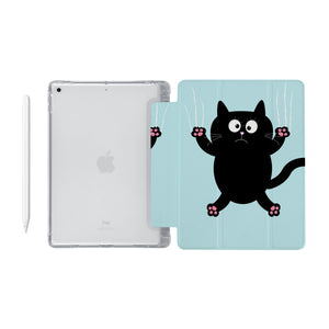 iPad SeeThru Casd with Cat Kitty Design Fully compatible with the Apple Pencil
