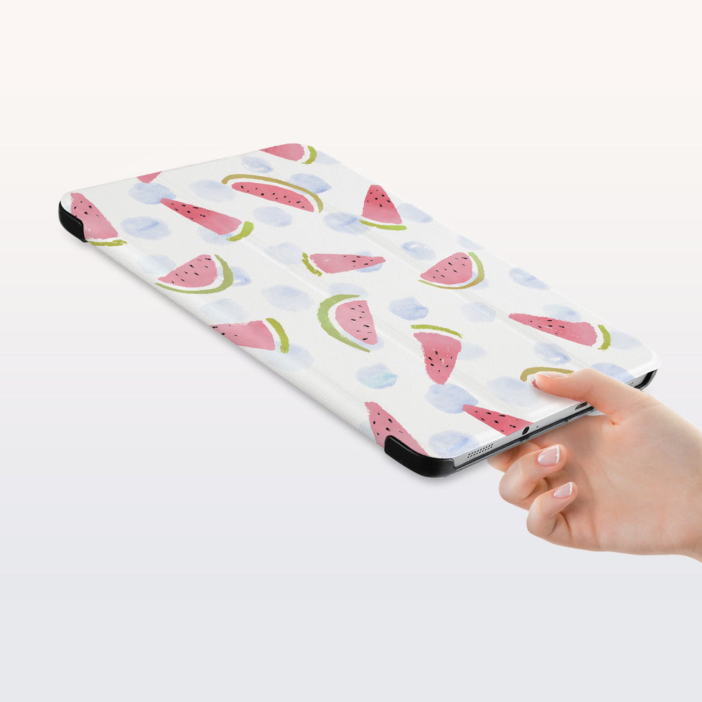 a hand is holding the Personalized Samsung Galaxy Tab Case with Fruit Red design