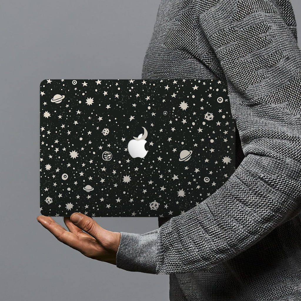 hardshell case with Space design combines a sleek hardshell design with vibrant colors for stylish protection against scratches, dents, and bumps for your Macbook