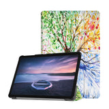 Personalized Samsung Galaxy Tab Case with Watercolor Flower design provides screen protection during transit