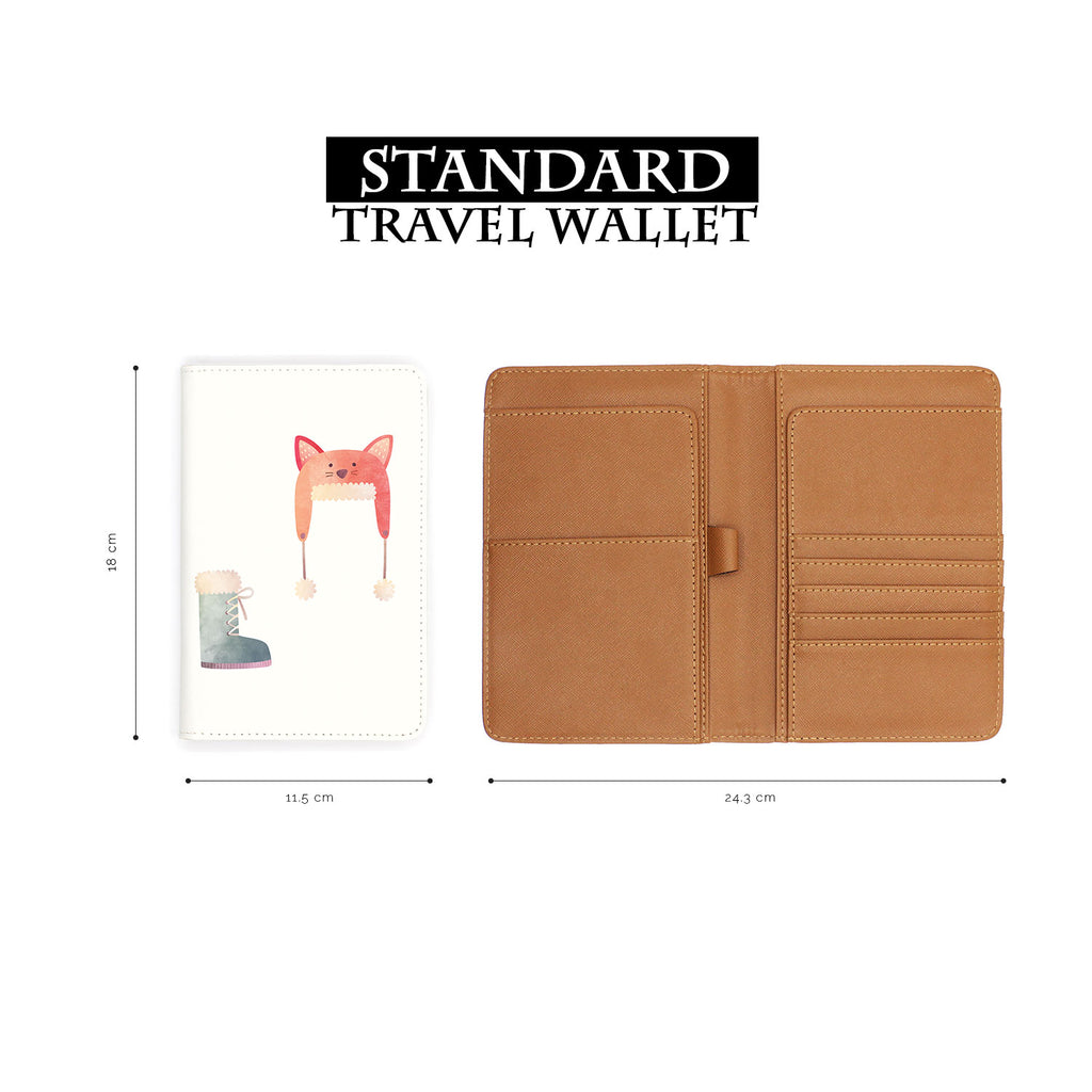 standard size of personalized RFID blocking passport travel wallet with Cold Weather Comforts 1 design
