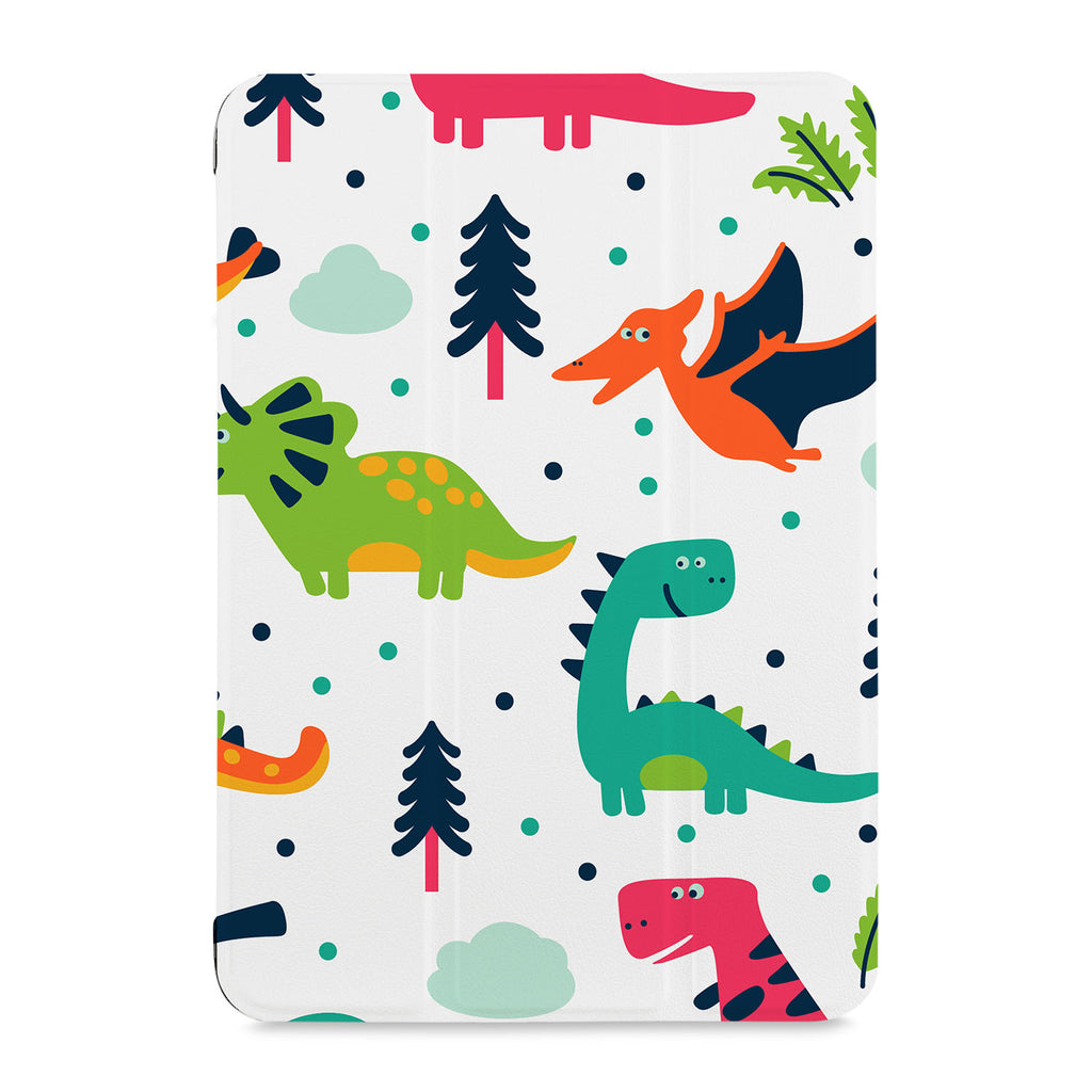 the front view of Personalized Samsung Galaxy Tab Case with Dinosaur design
