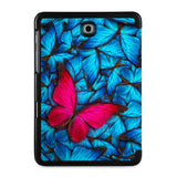 the back view of Personalized Samsung Galaxy Tab Case with Butterfly design