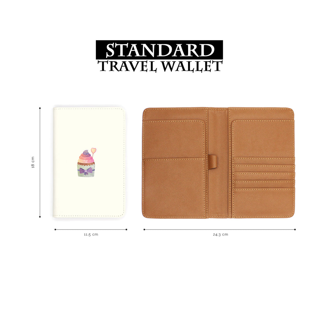 standard size of personalized RFID blocking passport travel wallet with Pumpkin Spice 2 design