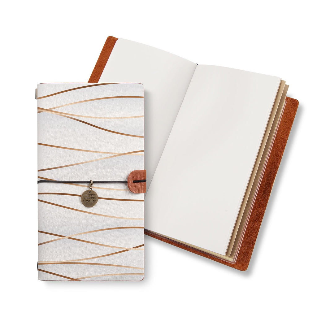 opened midori style traveler's notebook with Luxury design