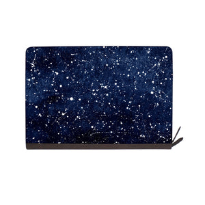 front view of personalized Macbook carry bag case with Galaxy Universe design