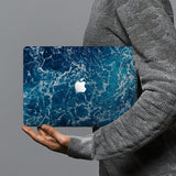 hardshell case with Ocean design combines a sleek hardshell design with vibrant colors for stylish protection against scratches, dents, and bumps for your Macbook