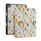 front and back view of personalized iPad case with pencil holder and Mediterranean design