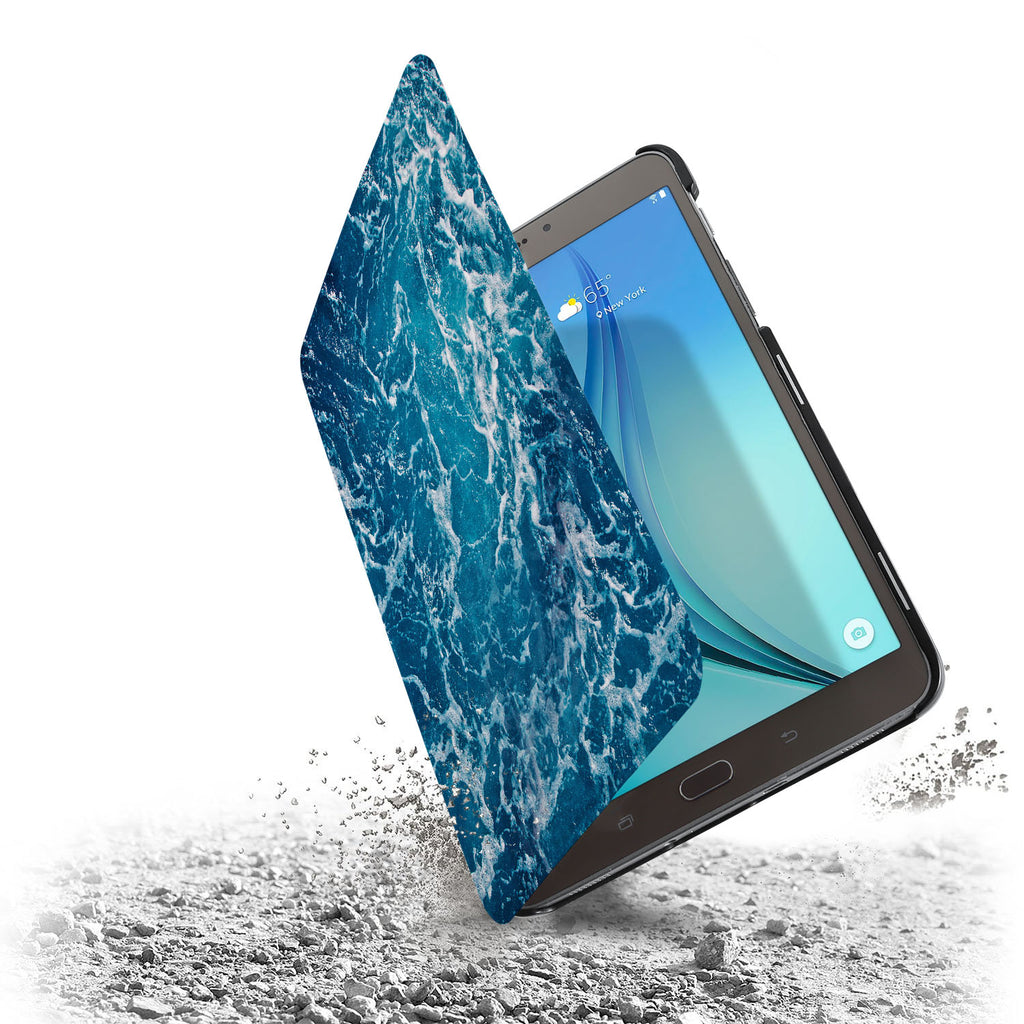 the drop protection feature of Personalized Samsung Galaxy Tab Case with Ocean design