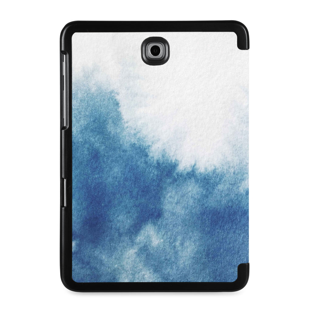 the back view of Personalized Samsung Galaxy Tab Case with Abstract Ink Painting design