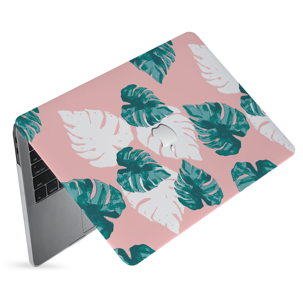 hardshell case with Pink Flower 2 design has matte finish resists scratches