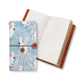 opened midori style traveler's notebook with Bird design