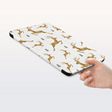 a hand is holding the Personalized Samsung Galaxy Tab Case with Christmas design