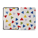 the whole front and back view of personalized kindle case paperwhite case with Geometry Pattern design