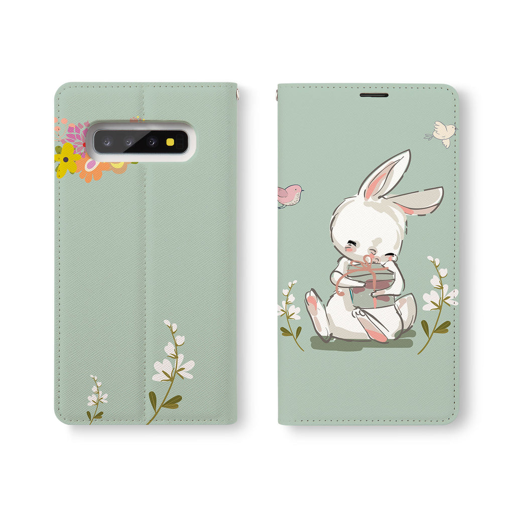 Personalized Samsung Galaxy Wallet Case with Bunny2Tang desig marries a wallet with an Samsung case, combining two of your must-have items into one brilliant design Wallet Case.