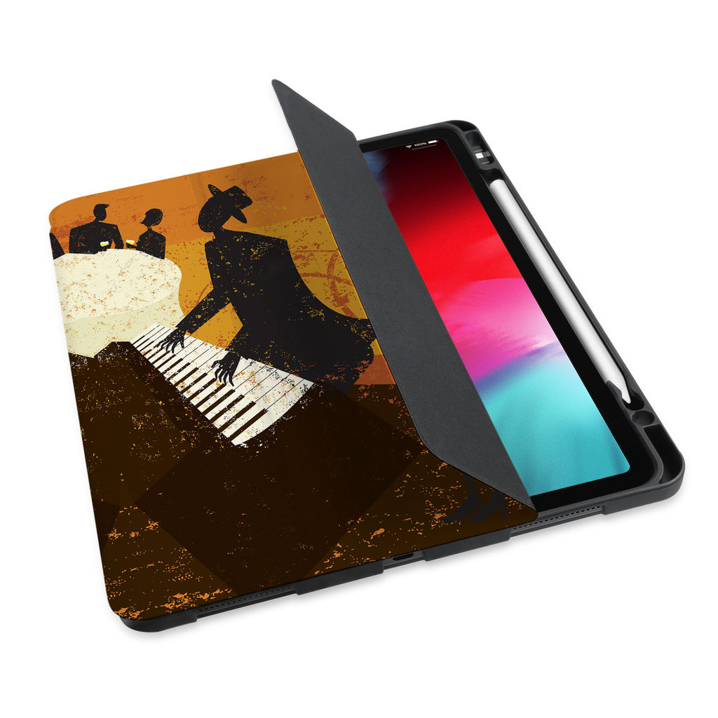personalized iPad case with pencil holder and Music design - swap