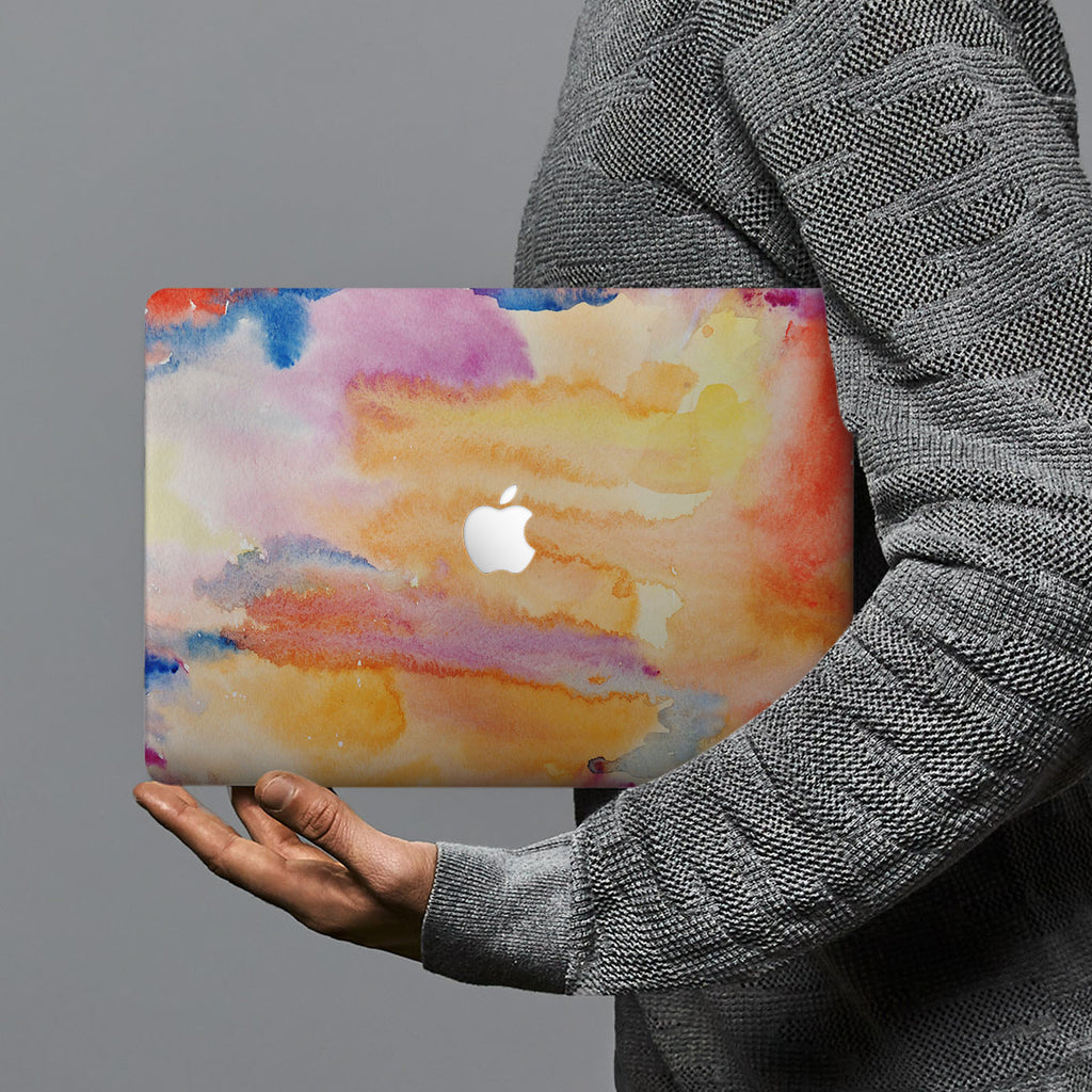 hardshell case with Splash design combines a sleek hardshell design with vibrant colors for stylish protection against scratches, dents, and bumps for your Macbook