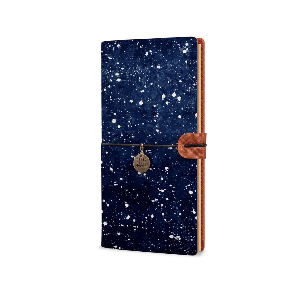 Traveler's Notebook - Galaxy Universe-the side view of midori style traveler's notebook - swap