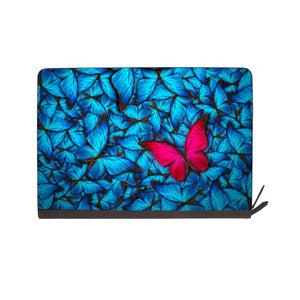 front view of personalized Macbook carry bag case with Butterfly design