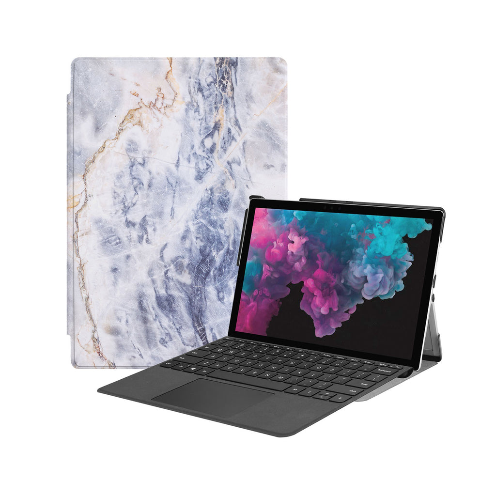 the Hero Image of Personalized Microsoft Surface Pro and Go Case with Marble design