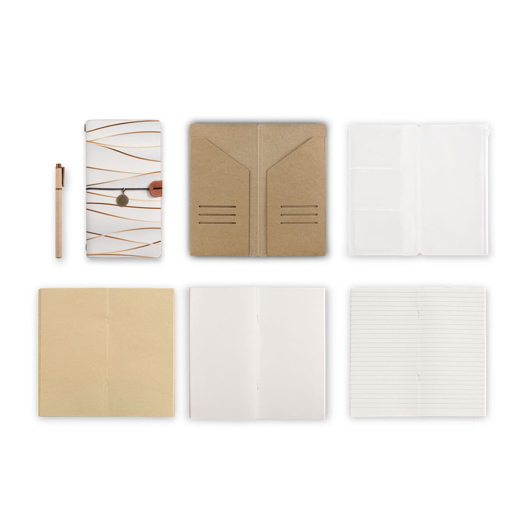 midori style traveler's notebook with Luxury design, refills and accessories